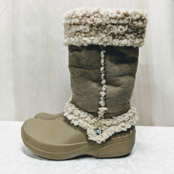 fc7186e44d8144 CROCS Shoes - Crocs Nadia Boots